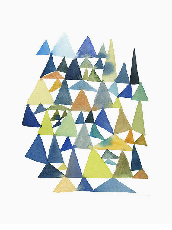 Forest of Triangles Print