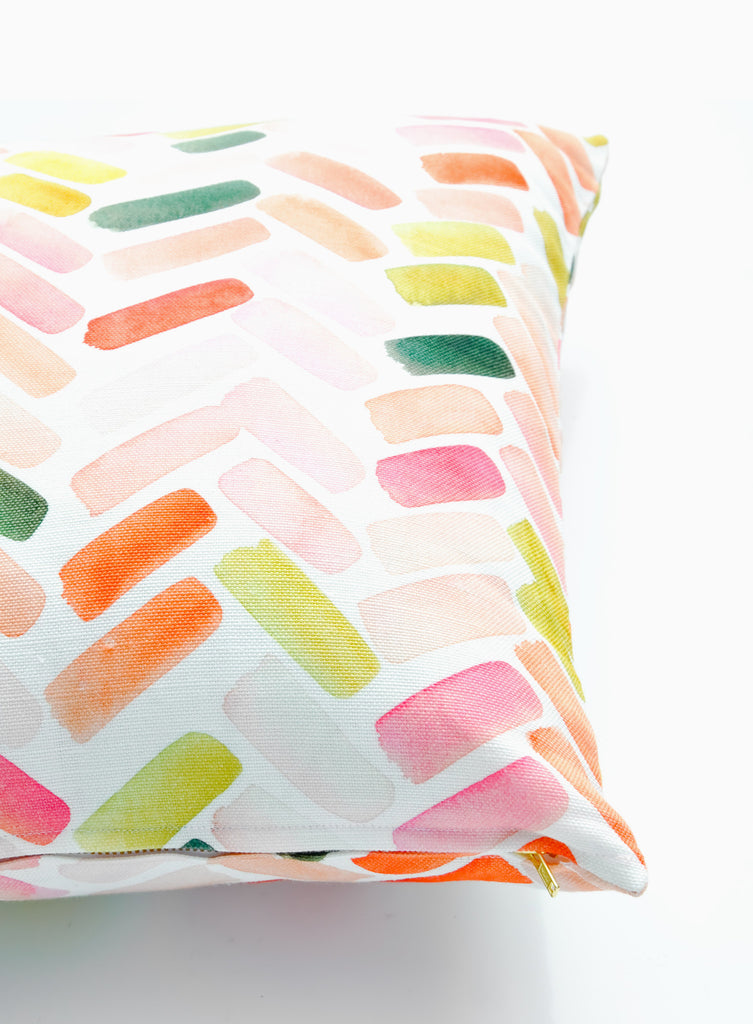 Herringbone Brushstroke Pillow - LEIF