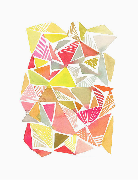 Triangle Division Print - LEIF