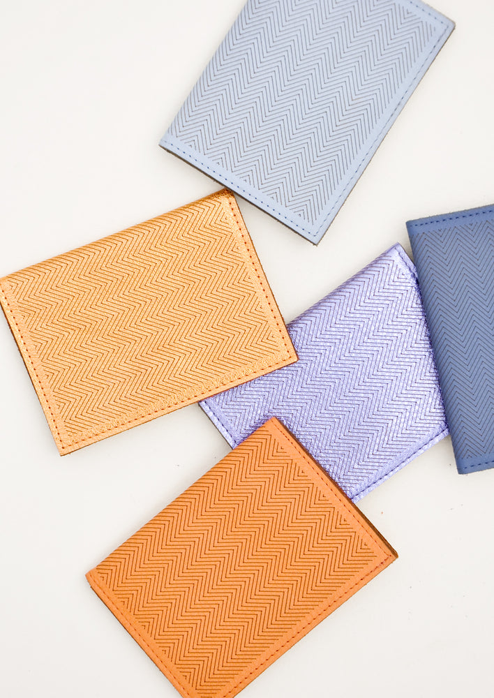 1: Product shot showing multiple colors of wallet.