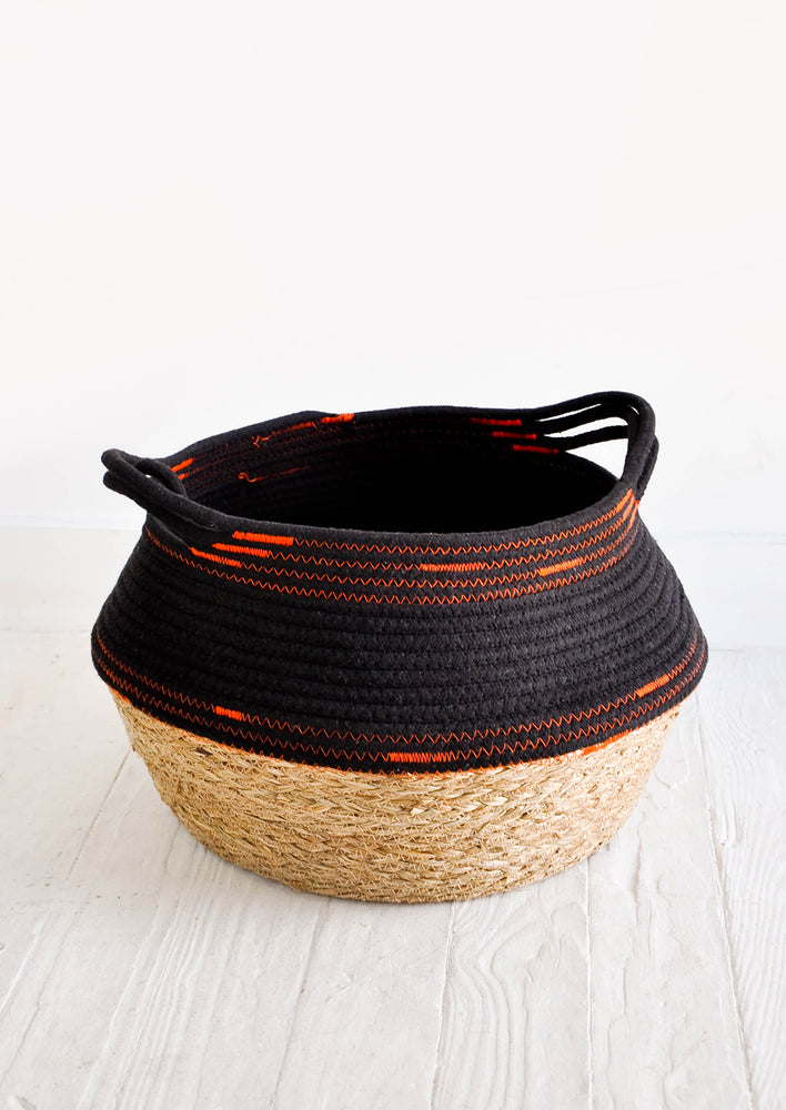 Zigzag Stitched Storage Basket