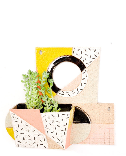 Geometric Ceramic Wall Planter