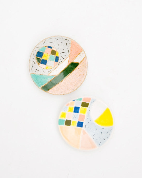 Geometric Shapes Ring Dish