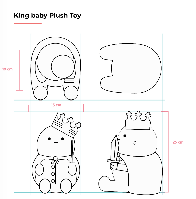 Dustinteractive King Baby Plush Toy (Pre-Order)