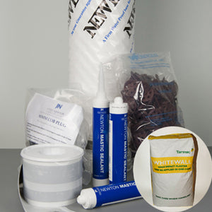 40m² Large Meshed Damp Proofing Pack With Tarmac Whitewall Plaster