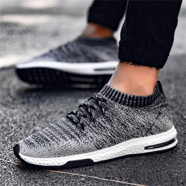 Breathable Mesh Casual Slip On Male Walking Shoes