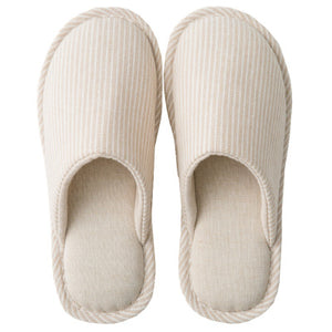 Stripes Cotton Air Soft Bottom Four Seasons Indoor Home Slippers