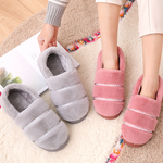 2019 New Plush Heartbeat Couple Slippers