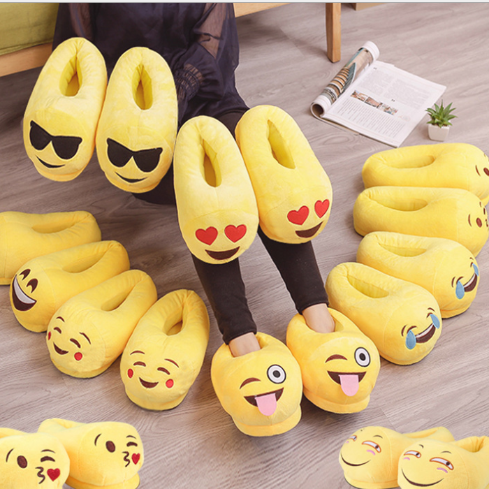2019 Funny Emoji Cotton Slippers