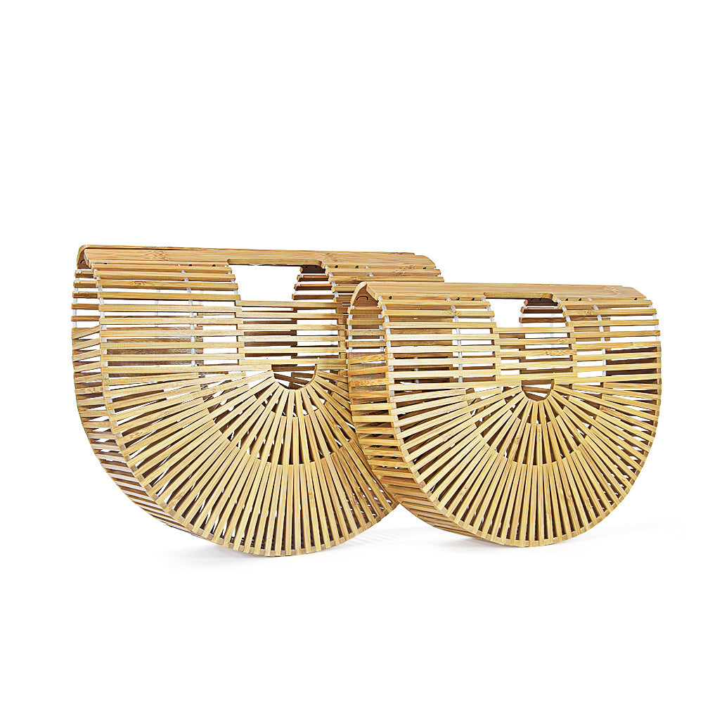 Women Handbag Female Big Travel Vacation Totes Bamboo Handbag