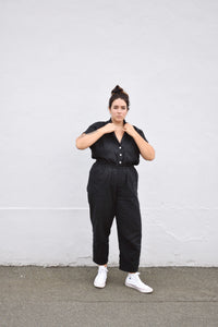 Cotton/Linen Marie Pant - Black