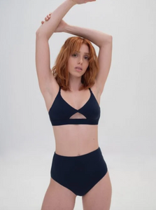 Nude Label | High Waisted Brief in Navy