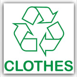 clothes recycling graphic