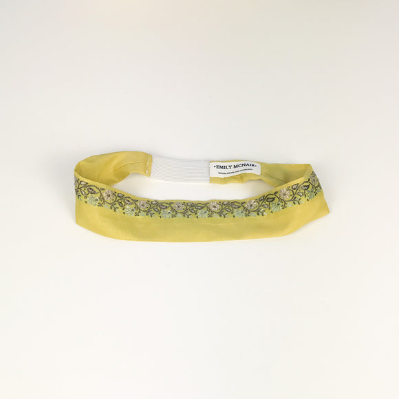 Embroidered Yellow Headband