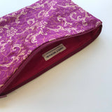 Deep Pink Silk Clutch Bag
