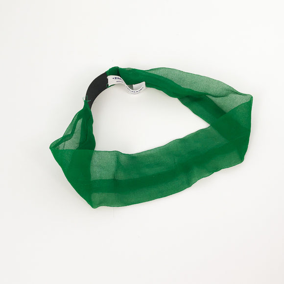 Emerald Green Silk Headband