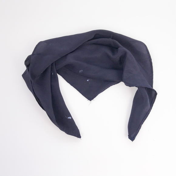 Navy Blue Silk Bandana