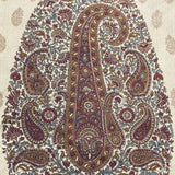 Paisley Print Toffee Coloured Silk Scarf