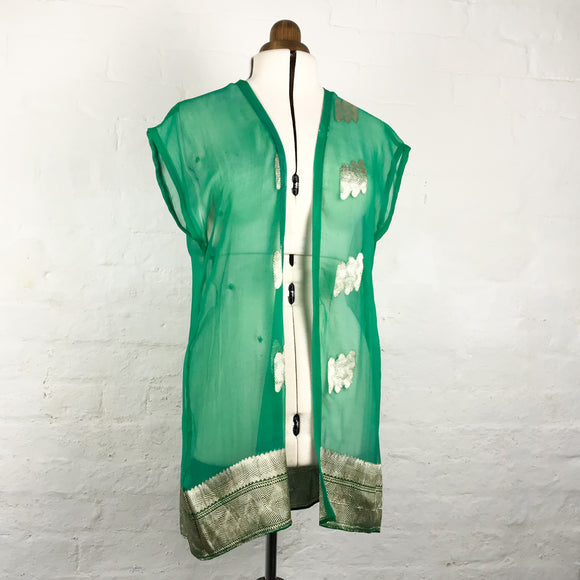 Green Silk Brocade Tunic