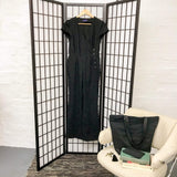 black linen wrap over jumpsuit