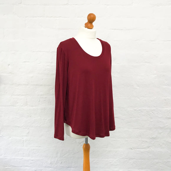 Cayenne Red Lara Scoop Top