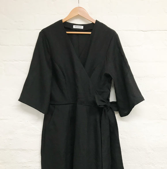 Black Linen Ethical Sustainable Jumpsuit