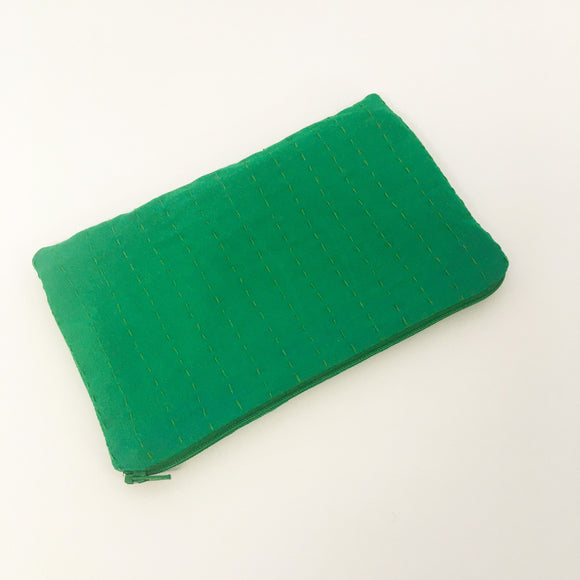 Emerald Green Silk Purse
