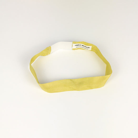 Yellow Silk Headband