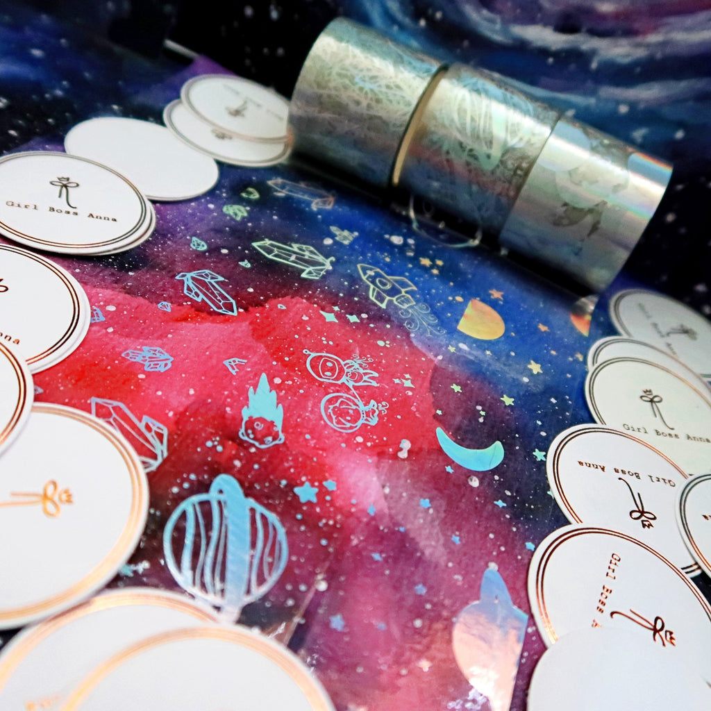 32mm Bottom Washi Galactic Bundle Overlay Tapes