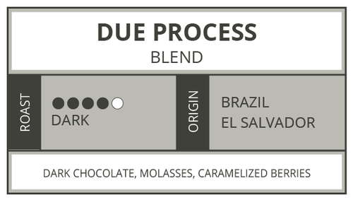 Due Process, Dark Roast Blend