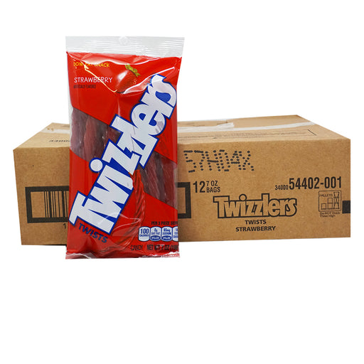 Twizzlers Twists Strawberry Peg Bag (198 g) (12er)