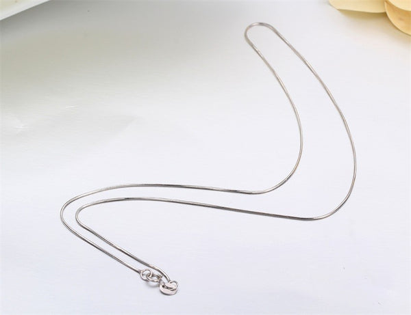 Sterling Silver Slim Round Snake Chain Necklaces