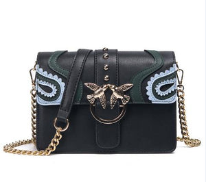 SAJOSE 2018 Rivet chain Hand Bag
