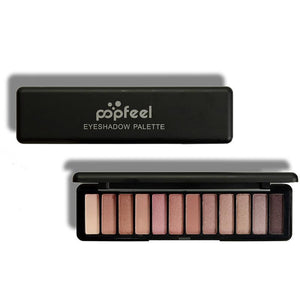 12 Colors Shimmer Matte Eye Shadow Pallete Makeup Set