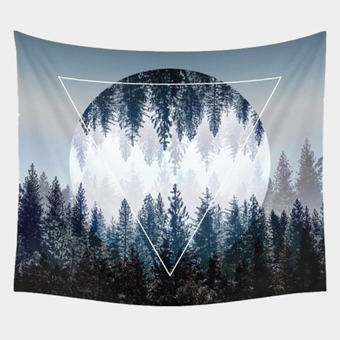 Beautiful Wall Hanging Forest Starry Night Tapestries