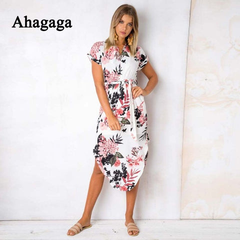 Elegant Summer Print Dress