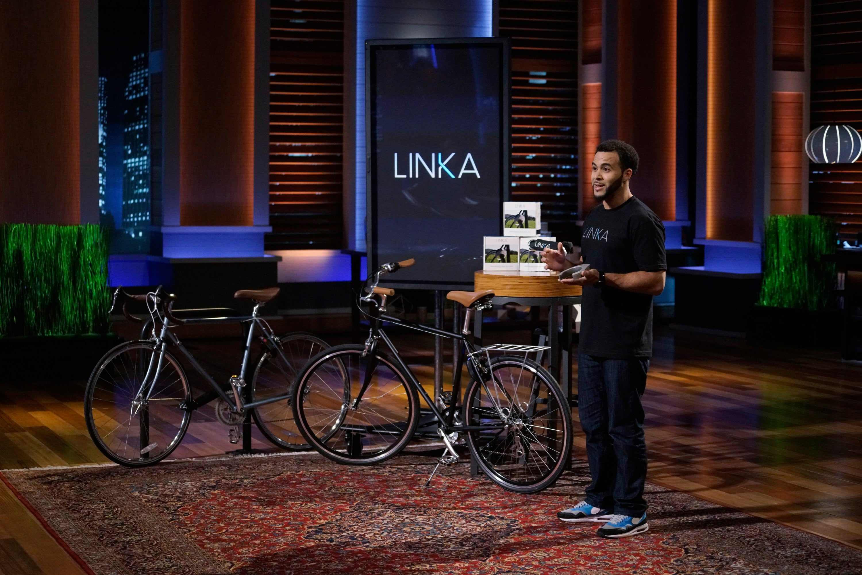 LINKA CEO Mohamed Mohamed on SharkTank pitching his business idea