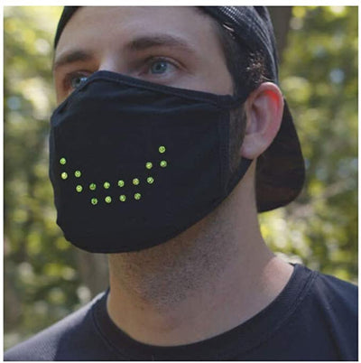 Face Mask Voice Activated LED Smart Mask