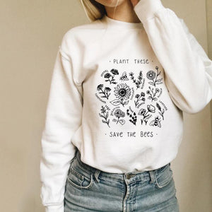 Casual Women Round Neck Floral Printed Sweatshirt