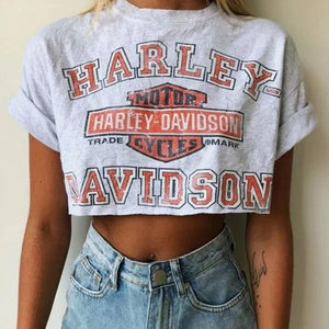 Women's Casual Round Neck Letter Printed Short-Sleeved T-Shirt