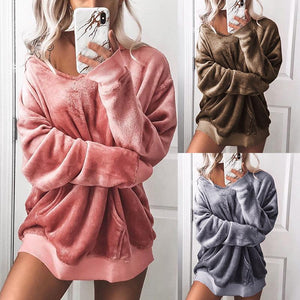 Hooded Long Sleeve Pocket Plain Hoodies