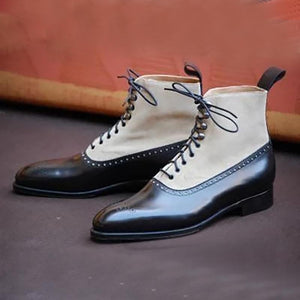 Fashion Stitching Chelsea Men's Boots