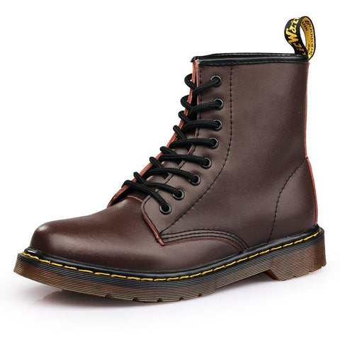 Men's Casual Solid Color Lace-up Martin Boots
