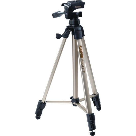"Sunpak Tripod With 3-way Pan Head (folded Height: 20.3""; Extended Height: 58.32""; Weight: 2.8lbs; Includes 2nd Quick-release Plate)"