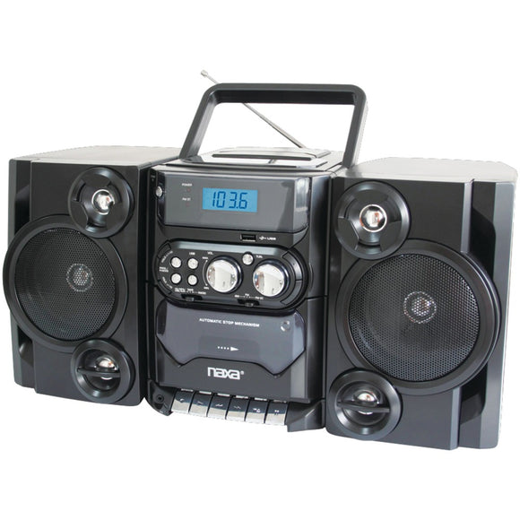 Naxa Portable Cd And Mp3 Player With Am And Fm Radio Detachable Speakers Remote & Usb Input