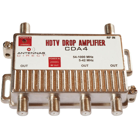 Antennas Direct Output Tv And Cat-5 Distribution Amp (4 Way)