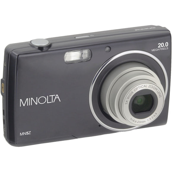 Minolta 20-megapixel Mn5z Hd Digital Camera With 5x Zoom (black)