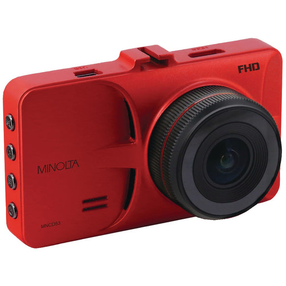 Minolta 12-megapixel 1080p Full Hd Mncd53 Car Camcorder (red)