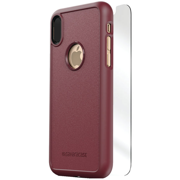 Saharacase Dbulk Series Protective Kit For Iphone X (plum)