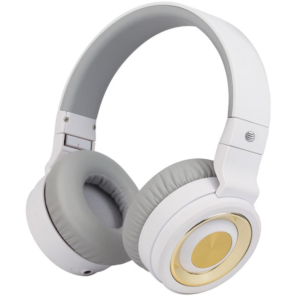 At&t Pbh20 Stereo Over-ear Headphones With Bluetooth (white)